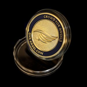 38mm Gold Frosted Colour Angel Commemorative Coin for Crowd for Angels Limited and Capsule