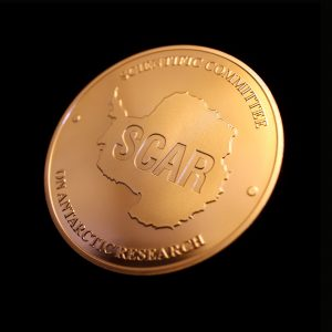50mm Bronze Semi-Proof Medal SCAR - For Excellence for Scientific Committee on Antarctic Research Obverse