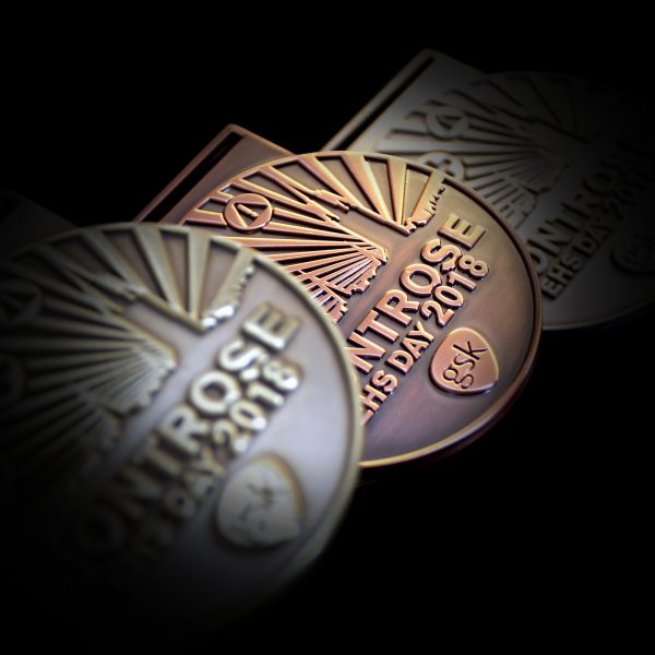 Gold Silver Bronze Antique Smooth 60mm Gold Silver BronzeGlaxoSmithKline, Montrose Environmental Health and Safety Day Medals 2018