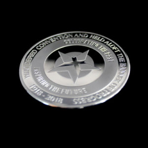 50mm Silver Semi-Proof Commemorative Medal - Helensburgh Heroes Vote 100 Women of All ages Commemorative Medal